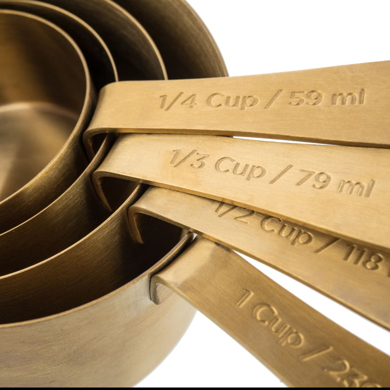 KITCHEN PANTRY BRASS MEASURING CUPS - SAK Home