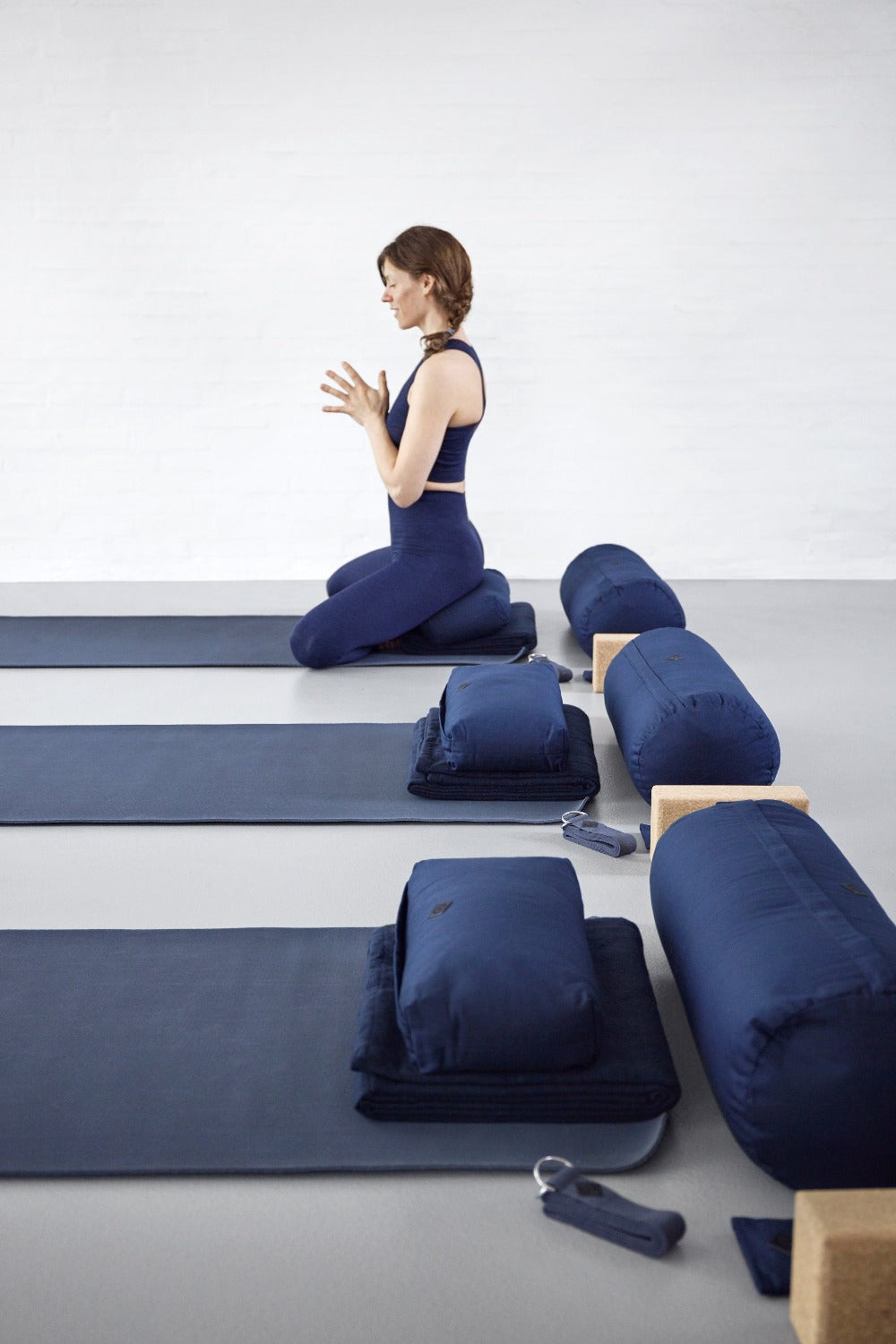 Yoga Meditation Bolster- Dark Blue