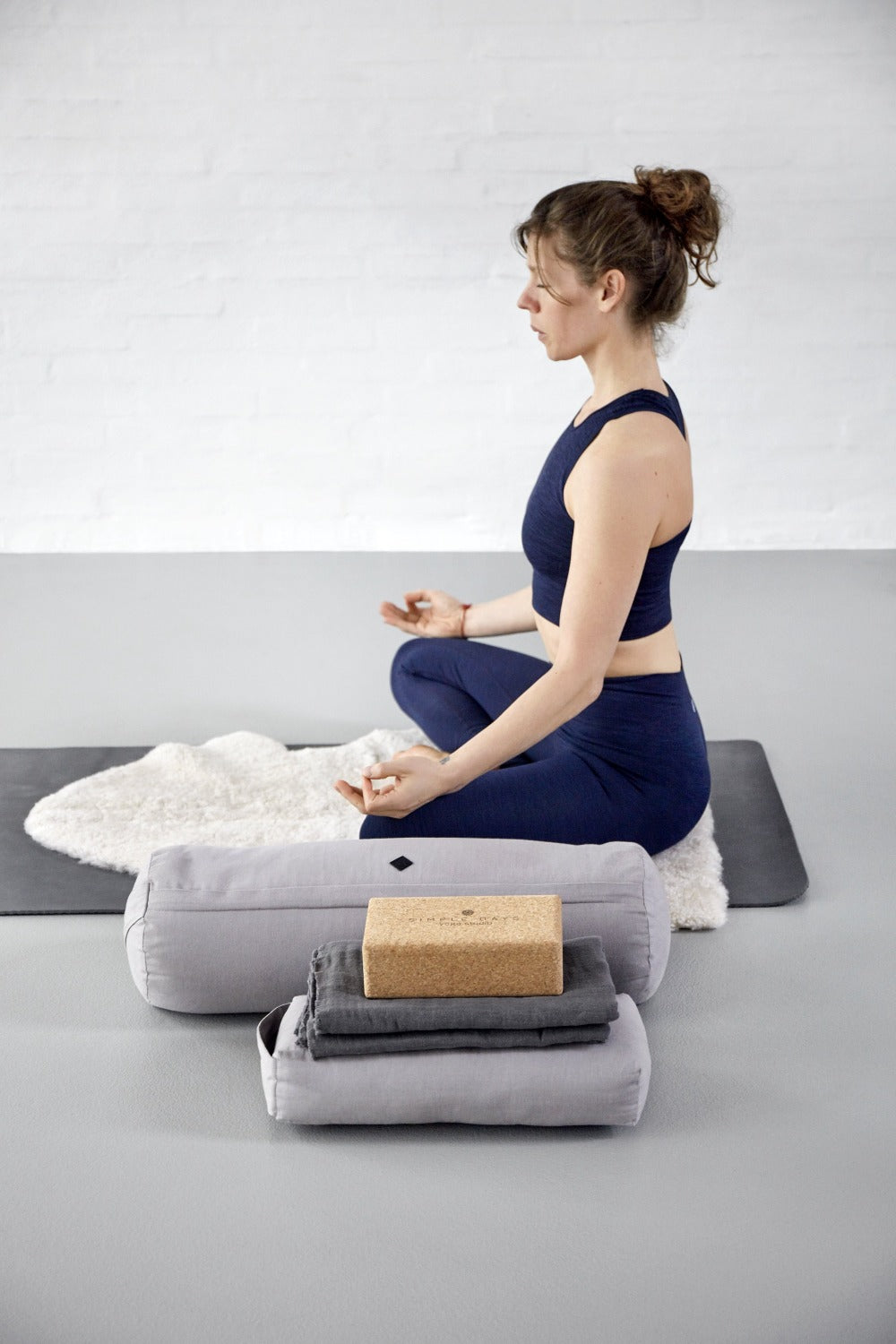 Yoga Meditation Bolster- Grey