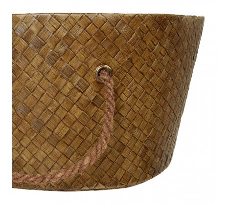 South Pacific Brown Pandanus Storage Baskets - Set of 2