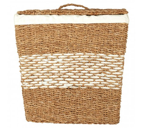 Tapered Seagrass Basket with Lid