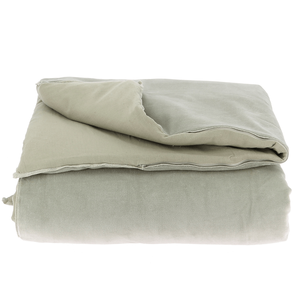 Velvet Cotton Bedspread - Beige - SAK Home