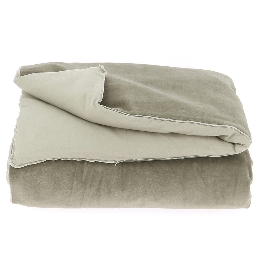 Velvet Cotton Bedspread - Brun - SAK Home