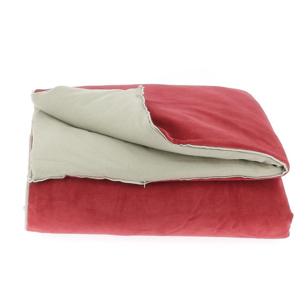 Velvet Cotton Bedspread - Chilli - SAK Home