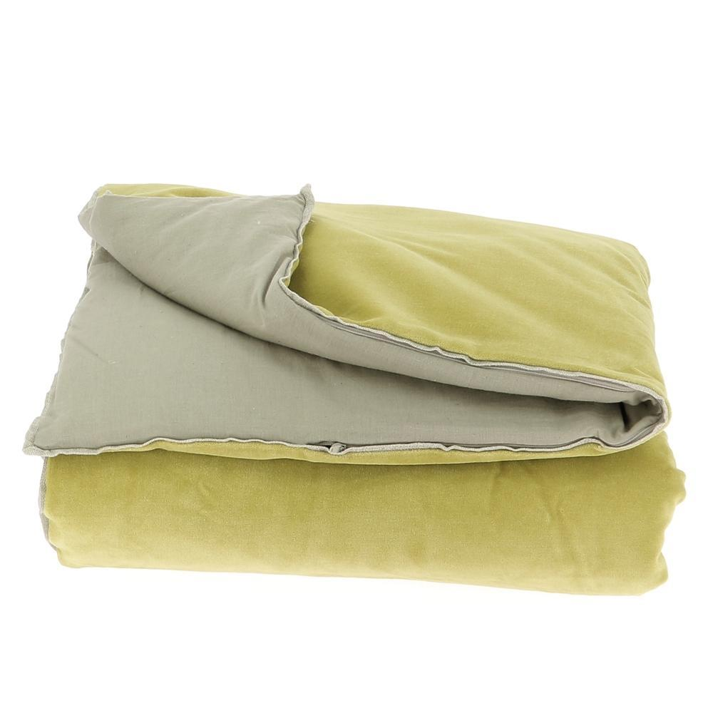 Velvet Cotton Bedspread - Citron - SAK Home