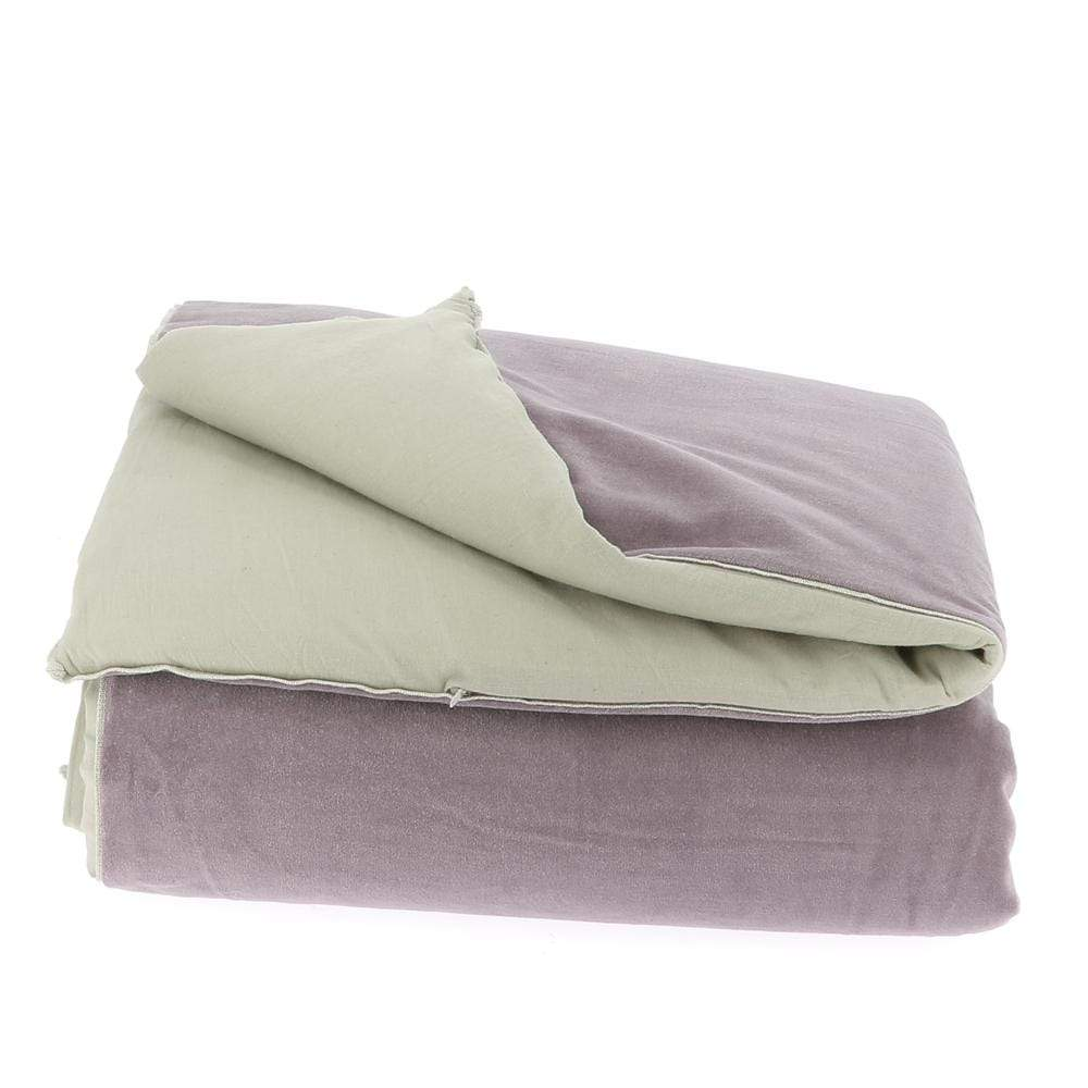 Velvet Cotton Bedspread - Lilas - SAK Home