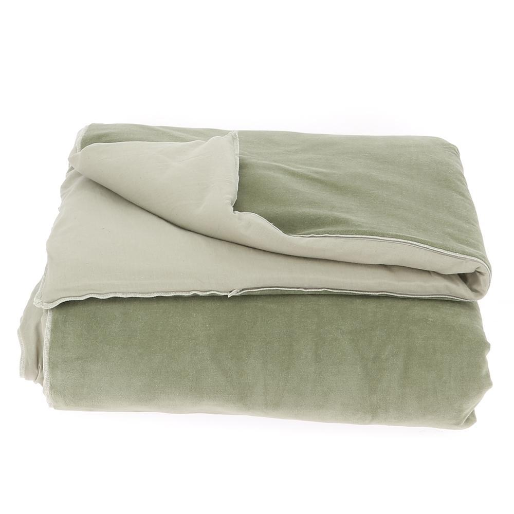 Velvet Cotton Bedspread - Mousse - SAK Home
