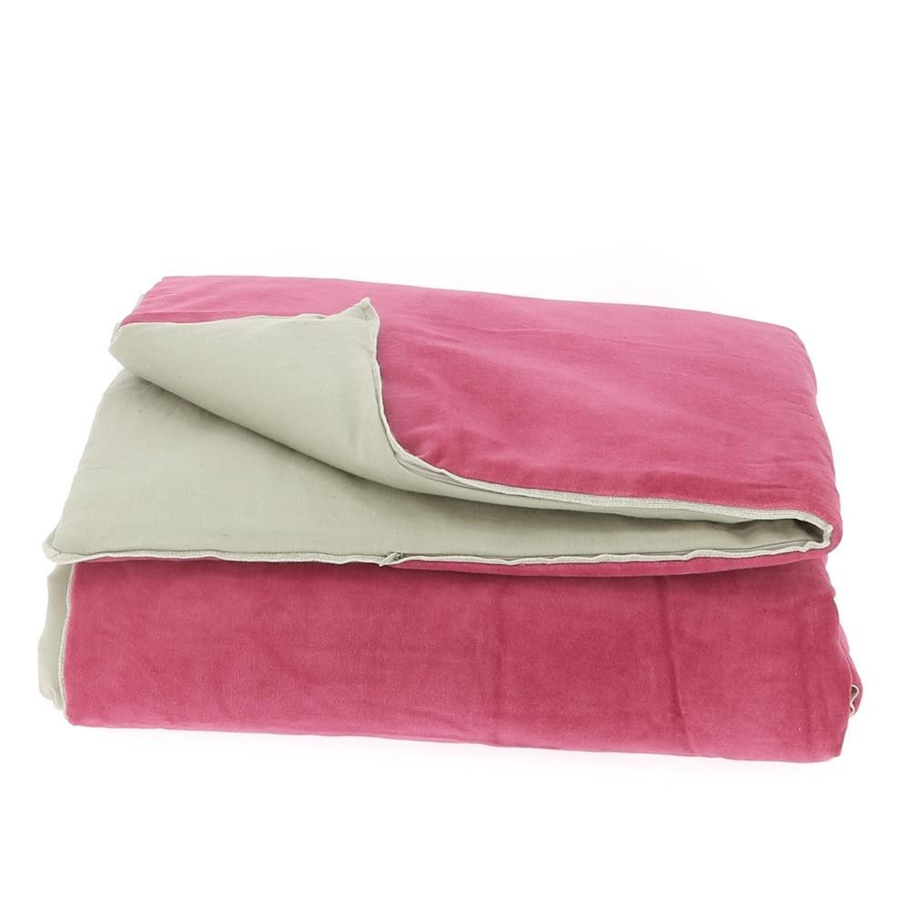 Velvet Cotton Bedspread - Rose - SAK Home
