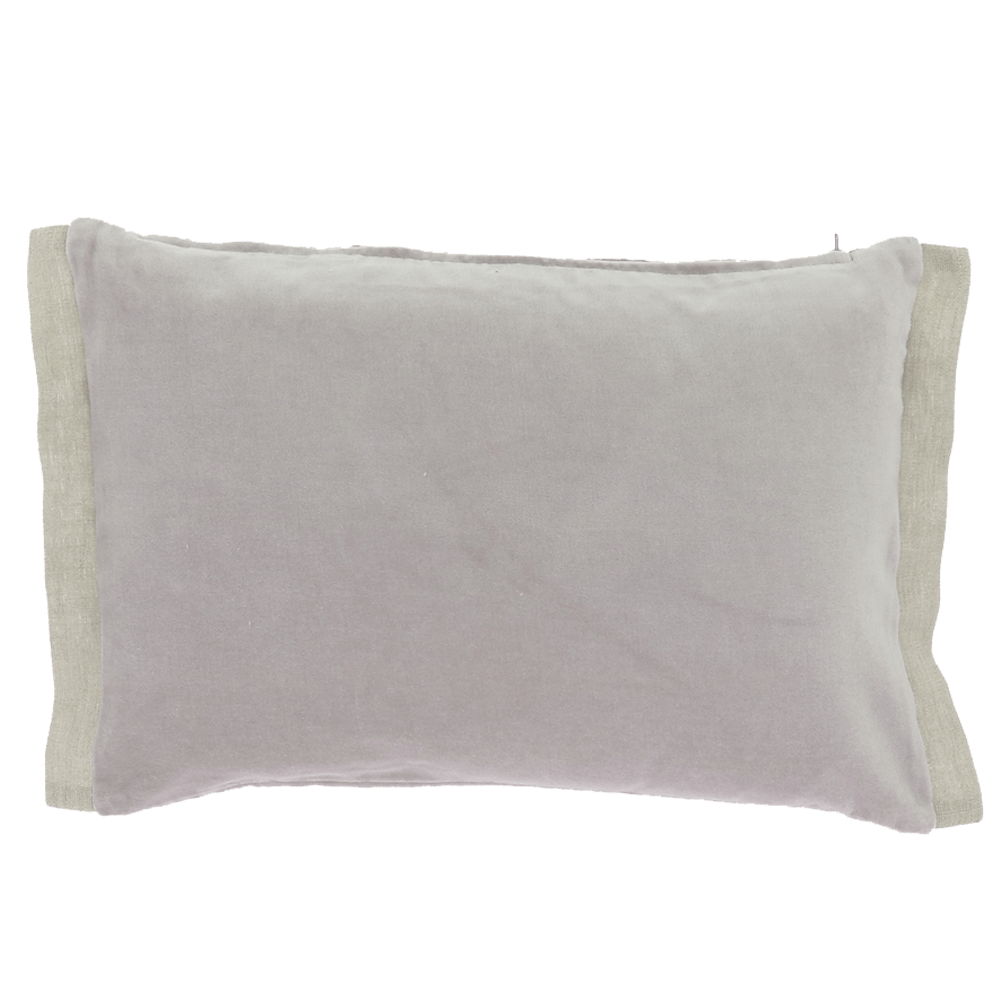 Velvet Cushion with Cotton Border - Orchidee - SAK Home