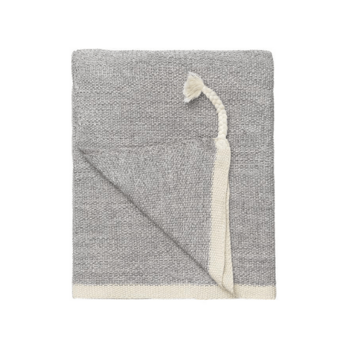 Astrid reverse knitted Throw - MUD - SAK Home