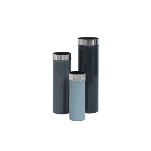 Enamelled Minimalistic Vases Ingrid Set of 3 - OCEAN - SAK Home