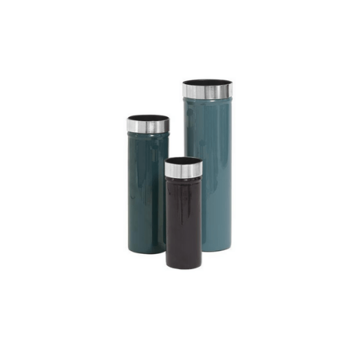 Enamelled Minimalistic Vases Ingrid Set of 3 - PETROL - SAK Home