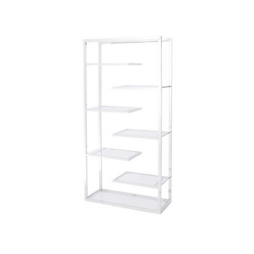 Linton Stainless Steel And Glass Display Unit - SAK Home