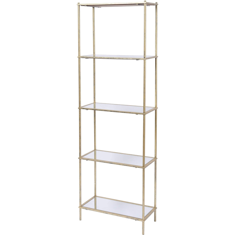 Mylas Five Tier Shelving Unit With Mirrored Panels - SAK Home