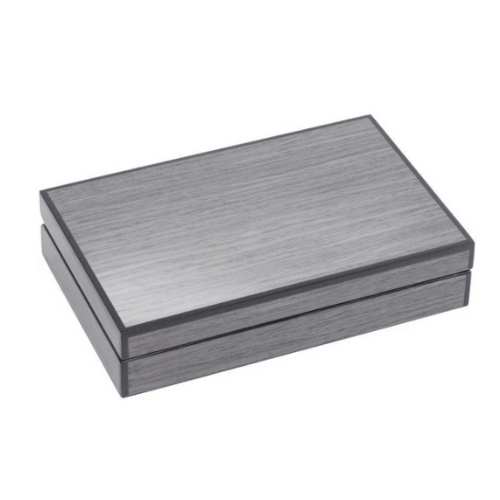 Lismore Grey Gloss Card Box - SAK Home