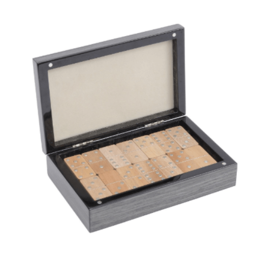 Lismore Grey Gloss Dominoes Box - SAK Home