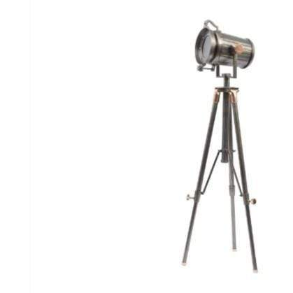 Charlie Copper And Satin Grey Tripod Floor Lamp E27 40w - SAK Home