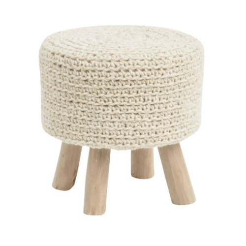 Nomad Stone Grey Knitted Stool - SAK Home