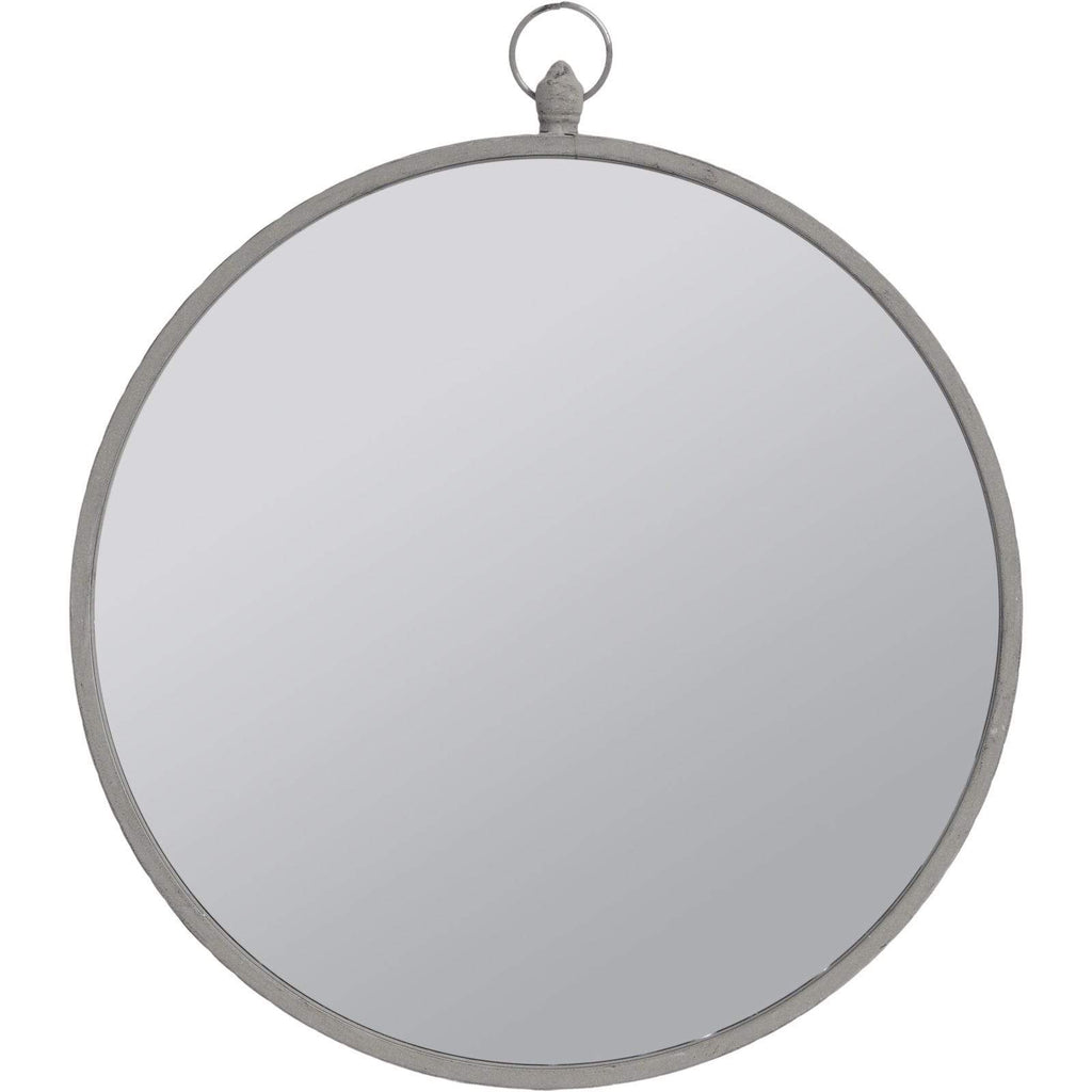 Round Mirror with Slim Black Frame - SAK Home