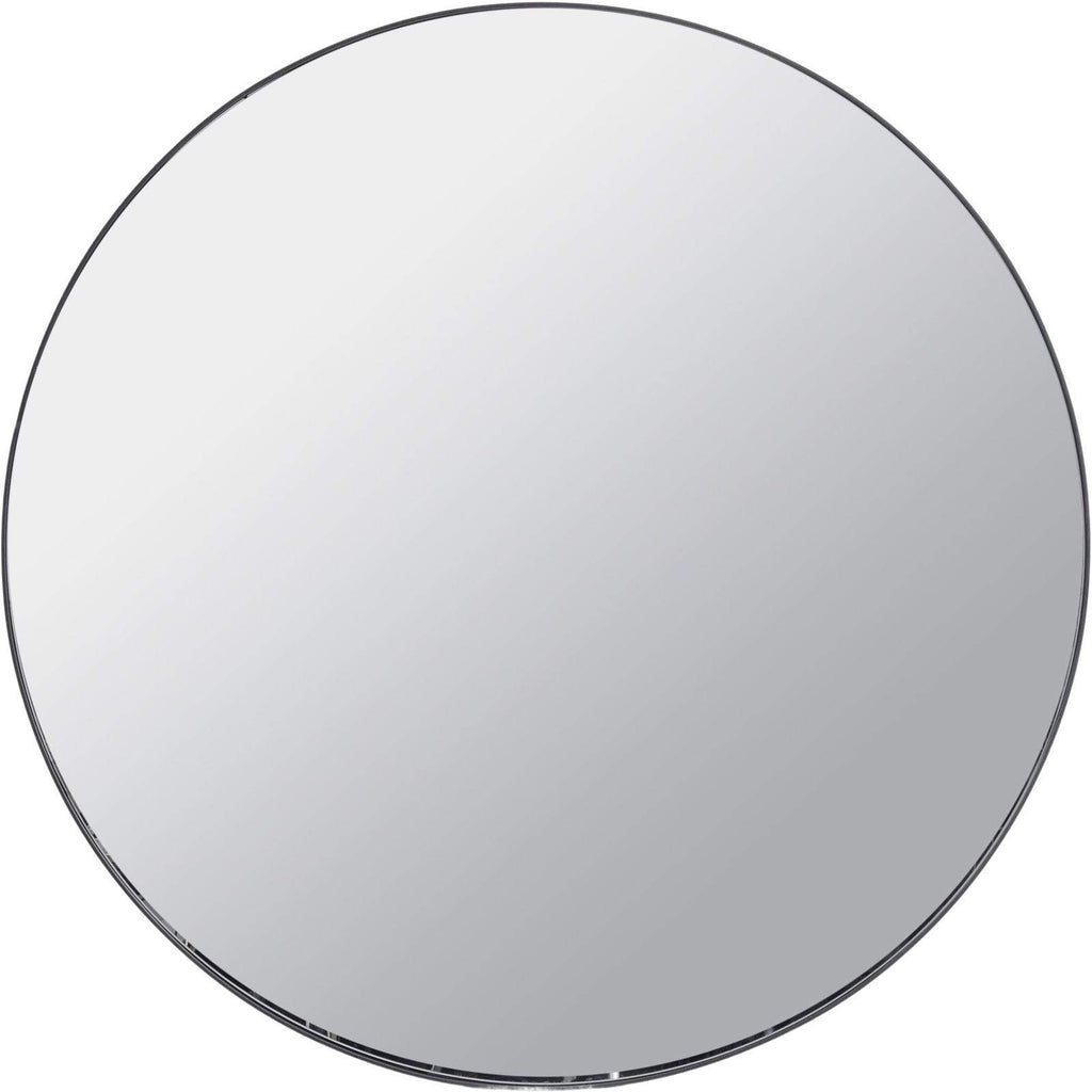 Round Mirror with Slim Black Metal Frame - SAK Home