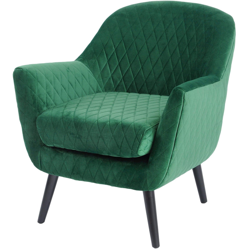 Ellison Green Velvet Quilted Occasional Chair - SAK Home