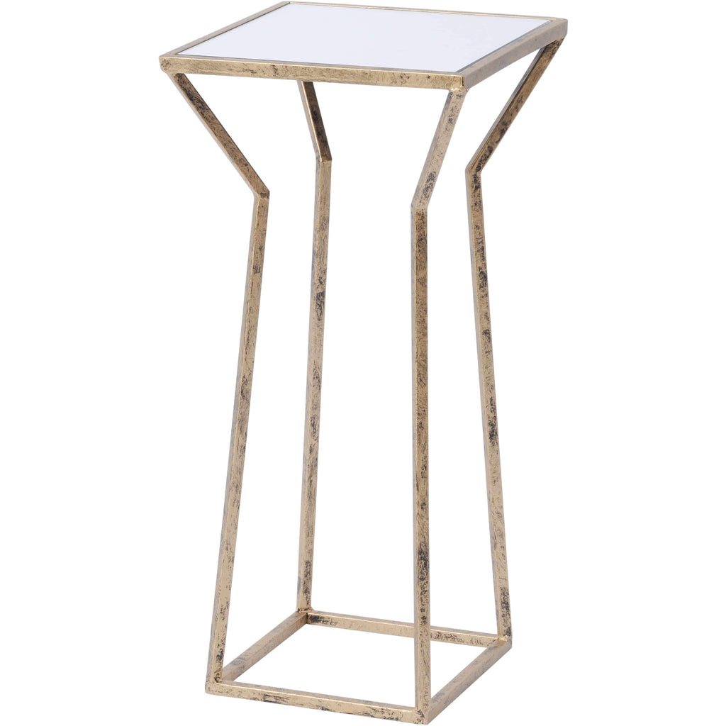 Mylas Small Square Side Table With Mirrored Top - SAK Home