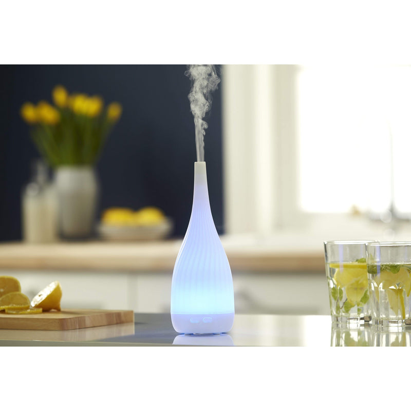 White Thalia Aroma Diffuser with Colour Changing Mood Lighting - SAK Home