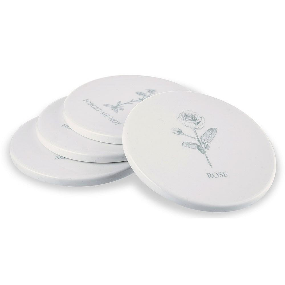 Mary Berry Set of 4 Flower Coasters - SAK Home
