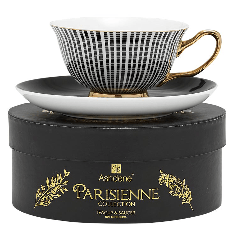 Parisienne Collection Cup & Saucer in Black - SAK Home