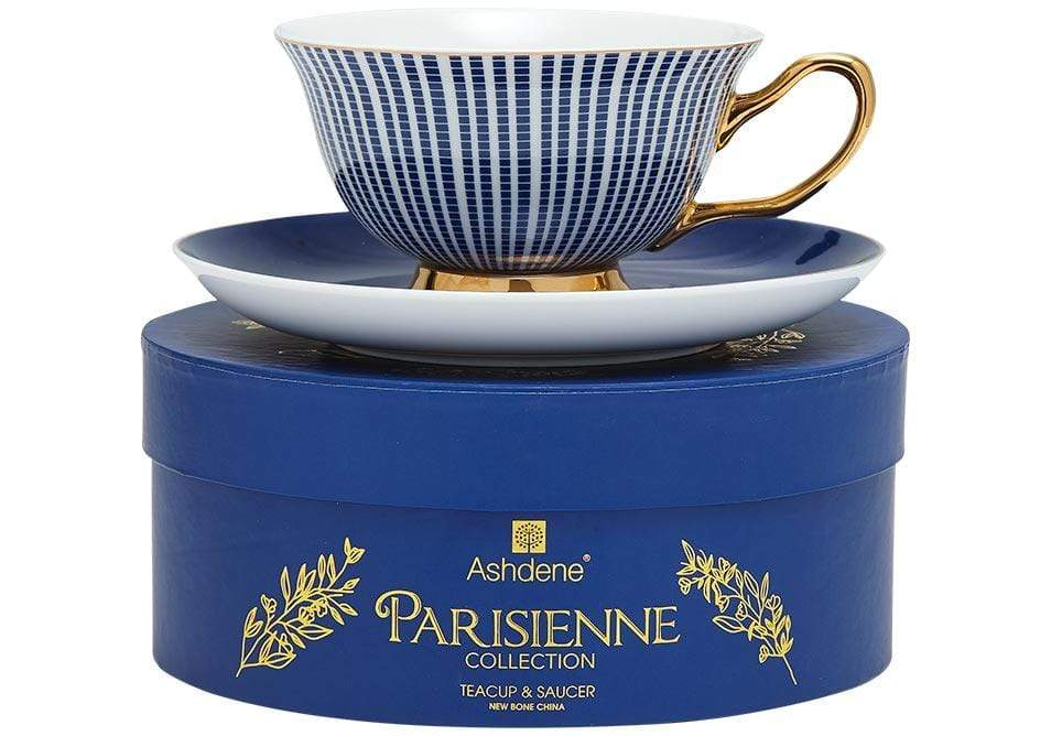Parisienne Collection Cup & Saucer in Navy - SAK Home