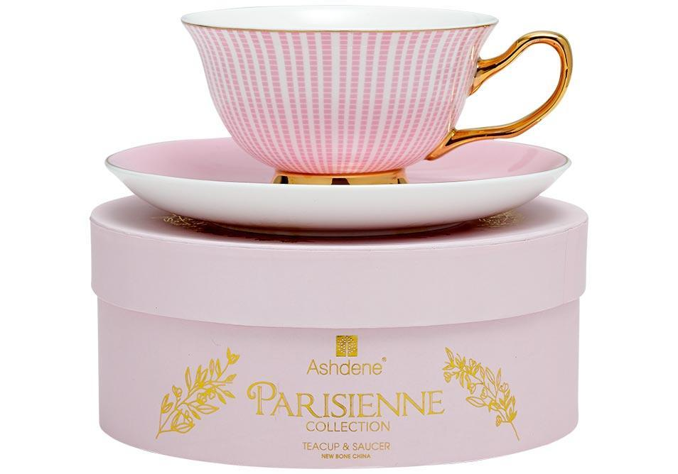 Parisienne Collection Cup & Saucer in Pink - SAK Home