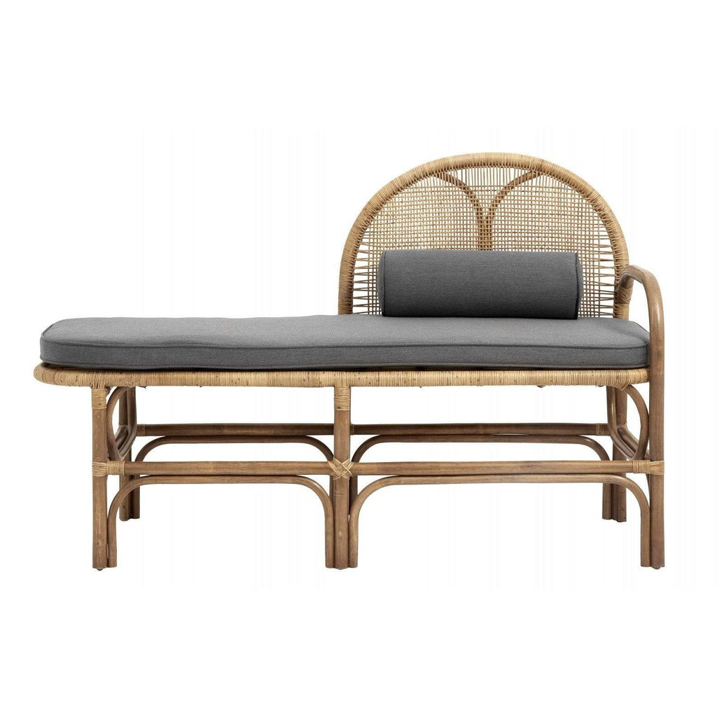 Bench with Mattress Rattan/Weaving Nature - SAK Home
