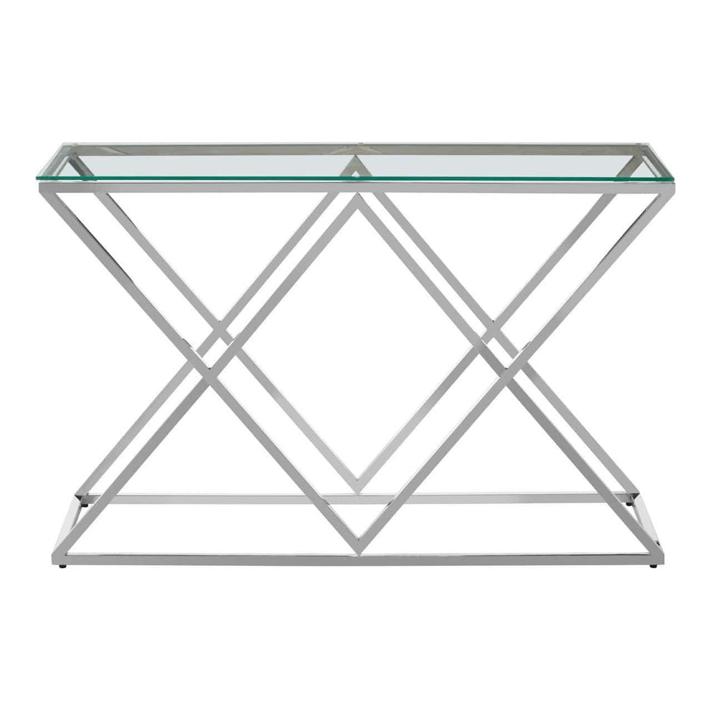 Alisa Inverted Triangles Base Console Table - SAK Home