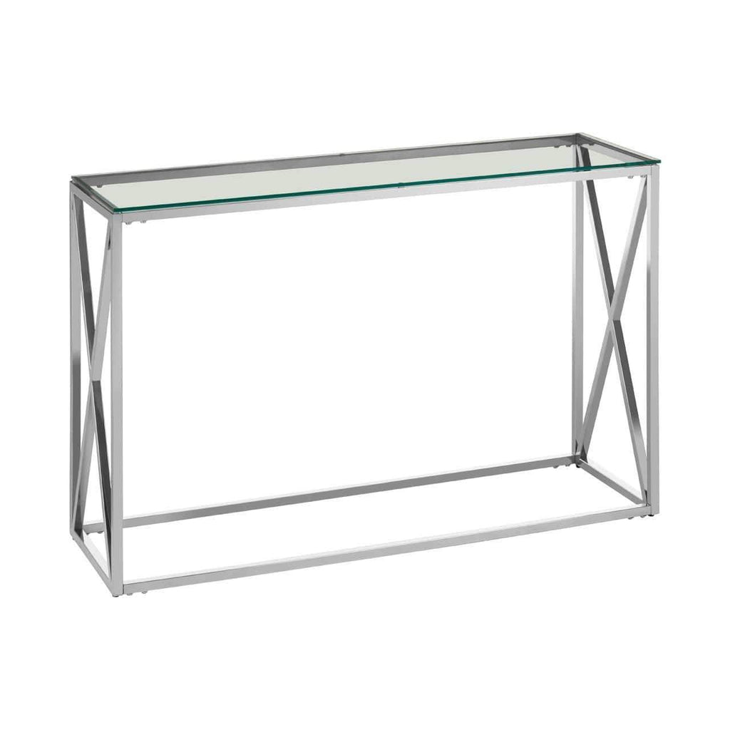 Alisa Silver Cross Design Console Table - SAK Home