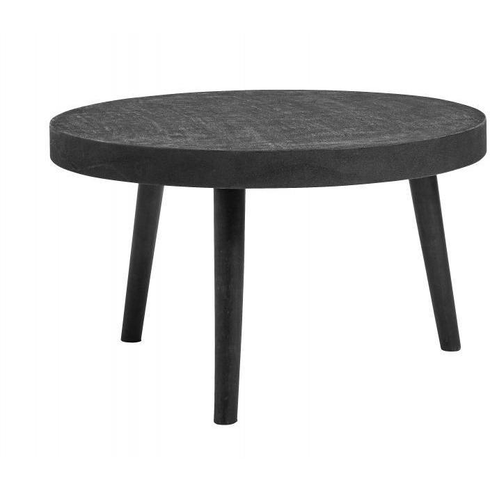 Coffee Table Round Black Concrete/wood - SAK Home