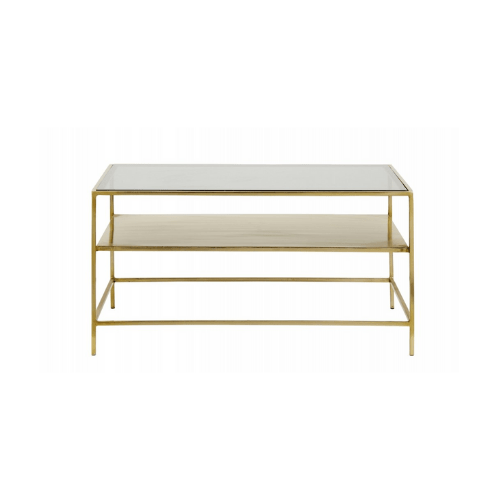 Decadent Coffee Table Gold Metal/black - SAK Home