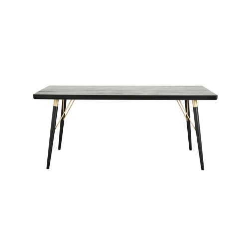 Dining Table Black Wood - SAK Home