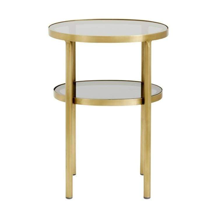 Oval Side Table Small Golden/black - SAK Home