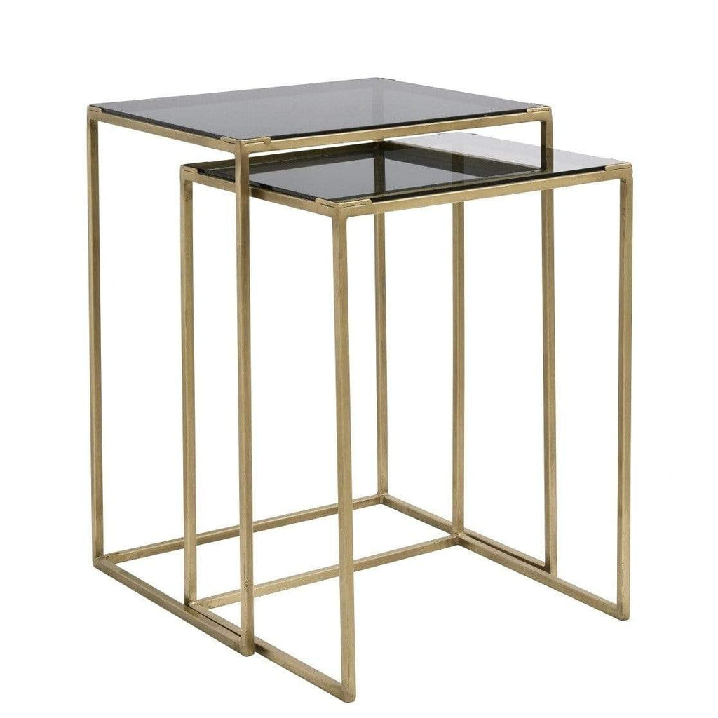 Side Tables Two-in-one Brass Black - SAK Home