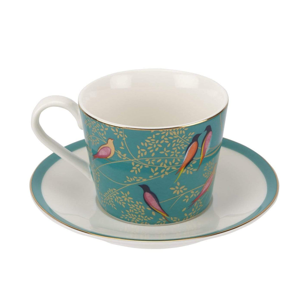 Sara Miller London Tea Cup & Saucer - Green - SAK Home