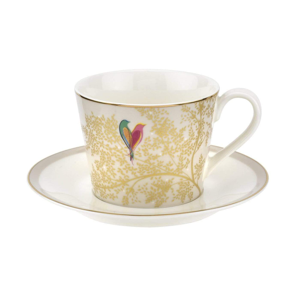 Sara Miller London Tea Cup & Saucer - Light Grey - SAK Home