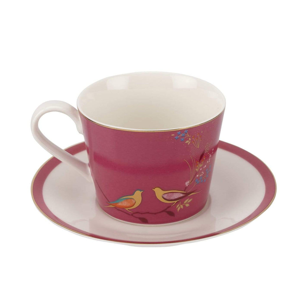Sara Miller London Tea Cup & Saucer - Pink - SAK Home