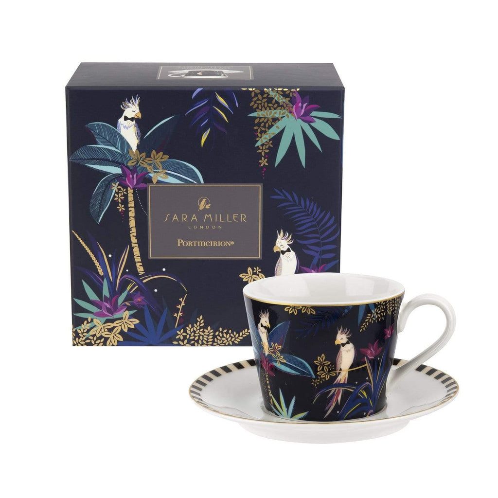 Sara Miller London Teacup & Saucer - Cockatoo - SAK Home
