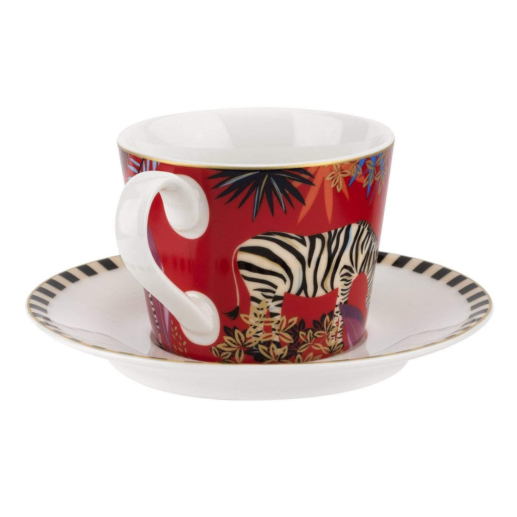 Sara Miller London Teacup & Saucer - Zebra - SAK Home