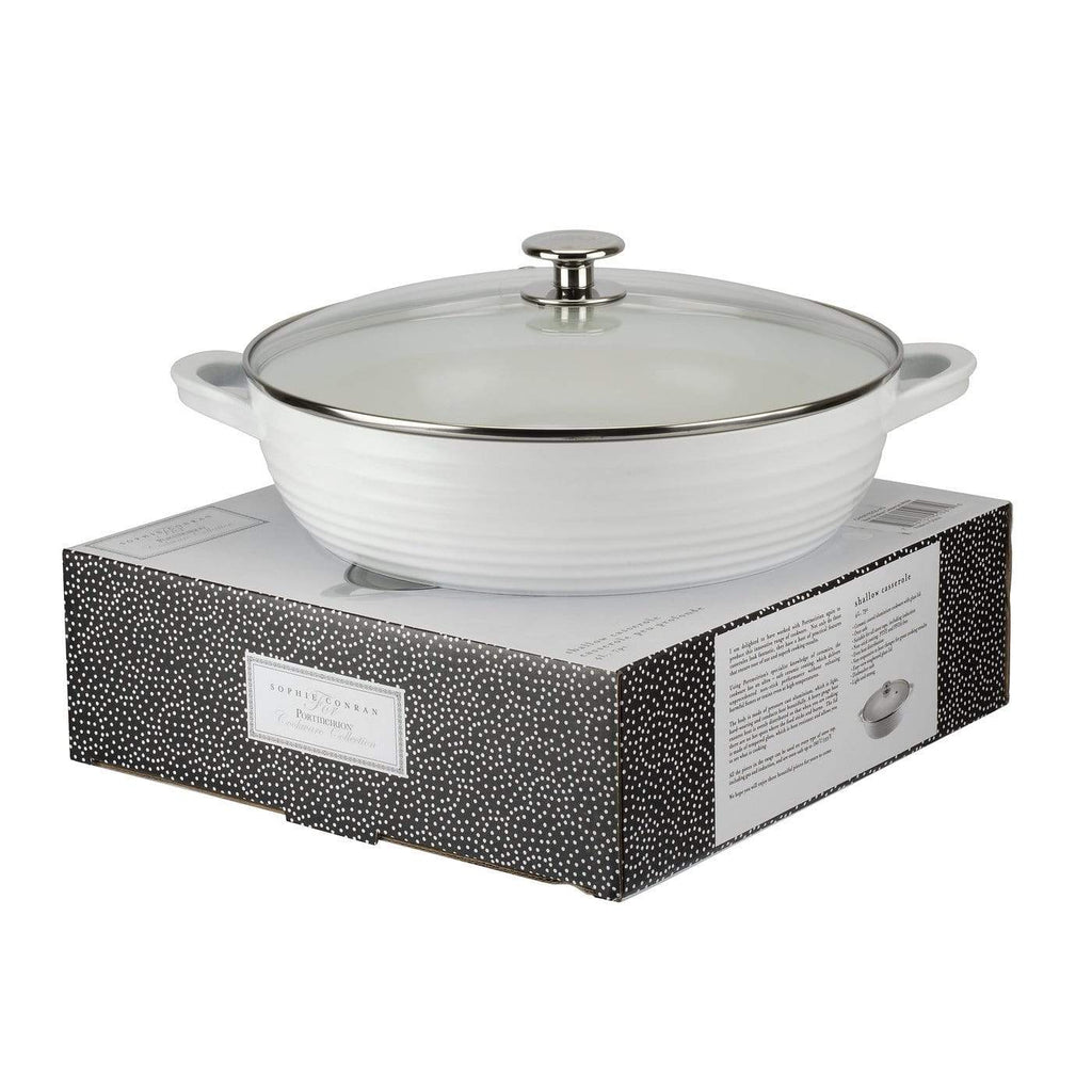 Shallow Casserole - White - SAK Home