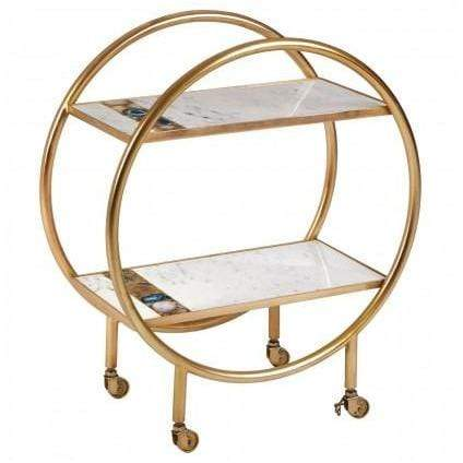 Naz 2 Tier Unit with Wheels - SAK Home