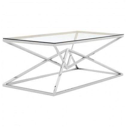 Alisa Corseted Stainless Steel Coffee Table - SAK Home