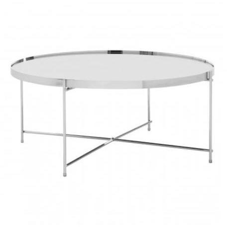 Alisa Round  Silver Mirror Coffee Table - SAK Home