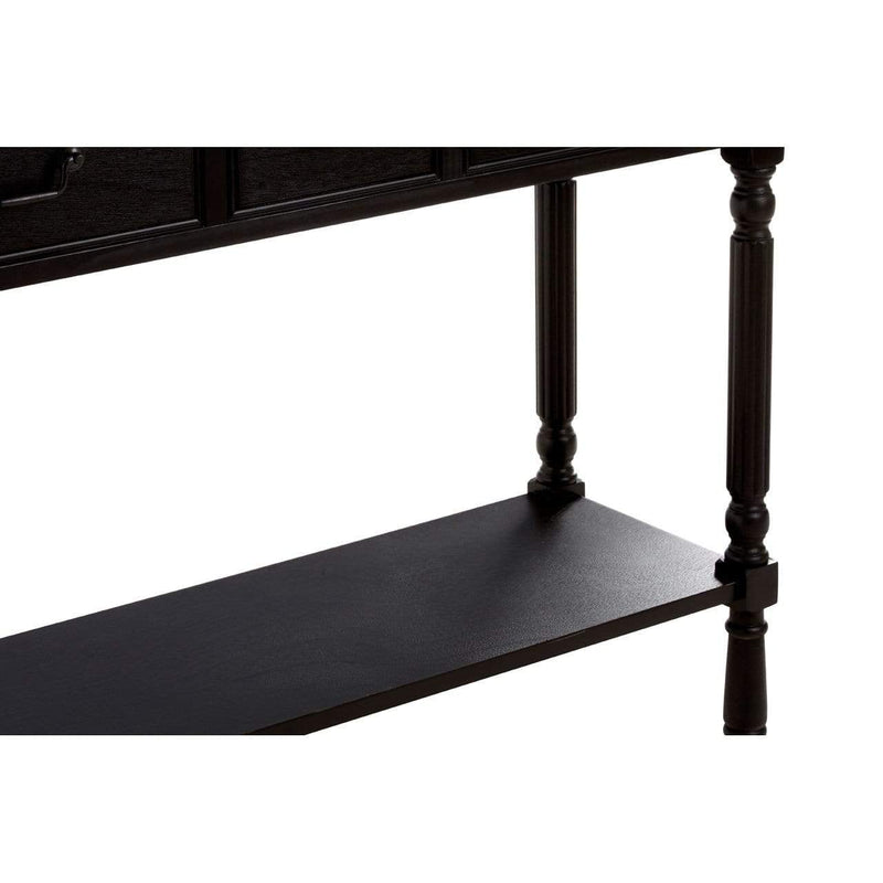 Harry 3 Drawer Vintage Black Console Table - SAK Home