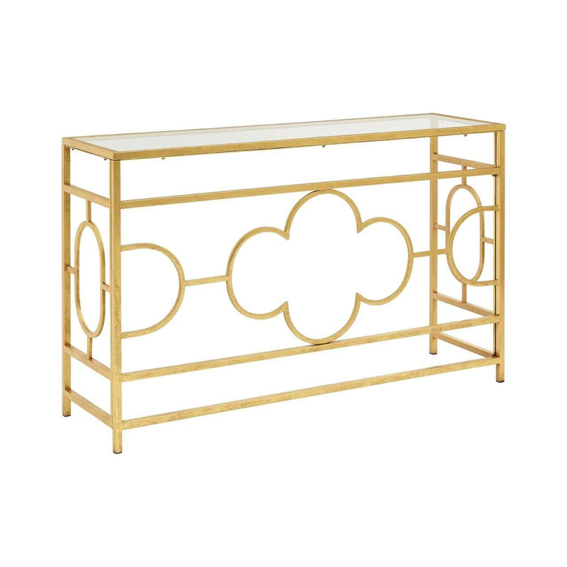 Mary Gold Leaf Console Table - SAK Home